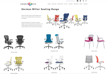 VISION PROJECTS LAUNCHES HERMAN MILLER SEATING RANGE