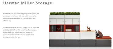 HERMAN MILLER STORAGE FROM VISION PROJECTS