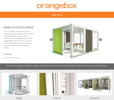 ORANGEBOX ACOUSTIC PODS FROM VISION PROJECTS
