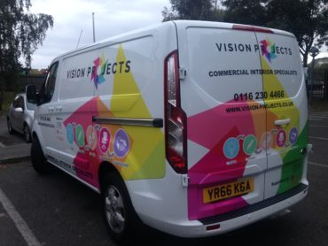 VISION PROJECTS TRANSIT VANS TAKE TO THE ROAD