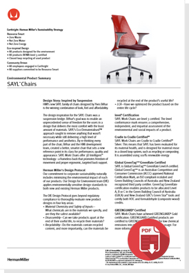 Sayl Environmental Product Sheet