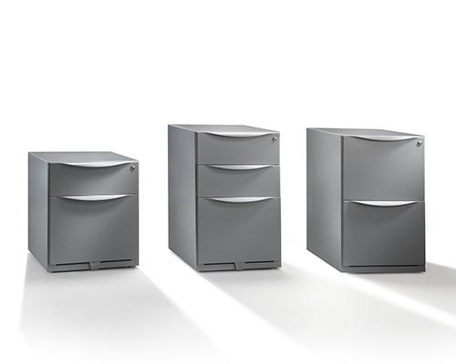 Herman Miller Kumi Silver Cabinets