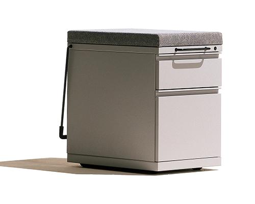 Herman Miller Meridian Grey Filing Cabinet