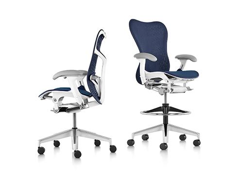 Herman Miller Mirra 2 Chairs Blue