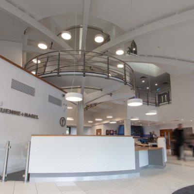 Kuehne and Nagel reception welcome area
