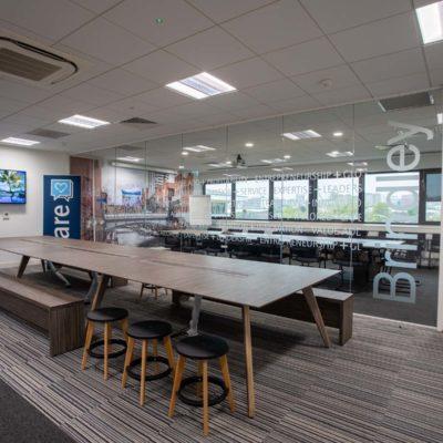 Sleek meeting room design