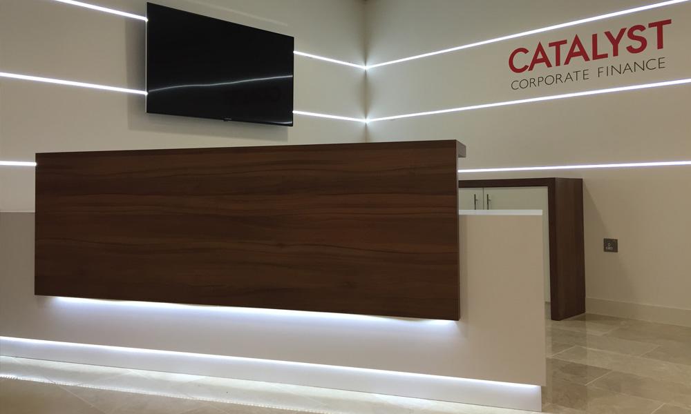 Alantra Catalyst Corporate Finance reception design