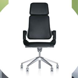 Interstuhl silver highend office seating