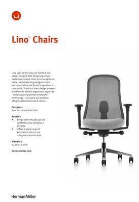 Herman Miller Lino Chair Product Sheet
