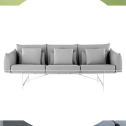 Wireframe Sofa Grey Sam Hecht Kim Colins