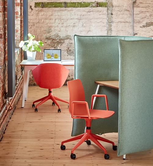 Naughtone Cloud Chairs Desk Space