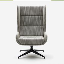 Naughtone Hush Collection Grey Chair
