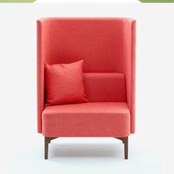 Naughtone Pullman Chair Red