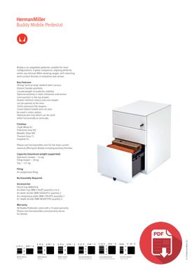 Herman Miller Buddy Product Sheet