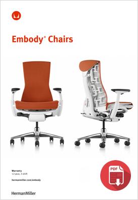 Herman Miller Embody Product Sheet