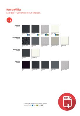 Herman Miller Storage Colour Choices