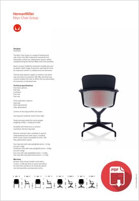 Herman Miller Keyn Product Sheet
