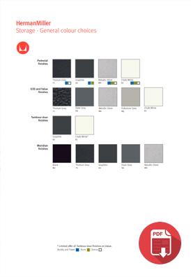 Herman Miller Meridian Storage Colour Choices