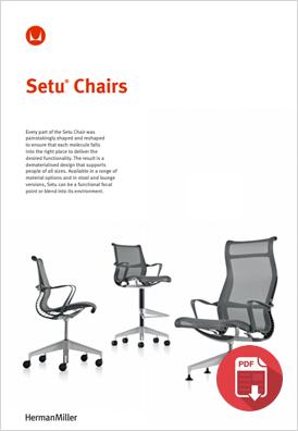 Herman Miller Setu Product Sheet